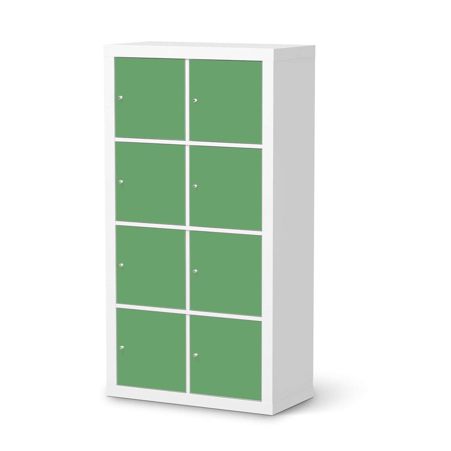 Klebefolie Grün Light - IKEA Expedit Regal 8 Türen  - weiss