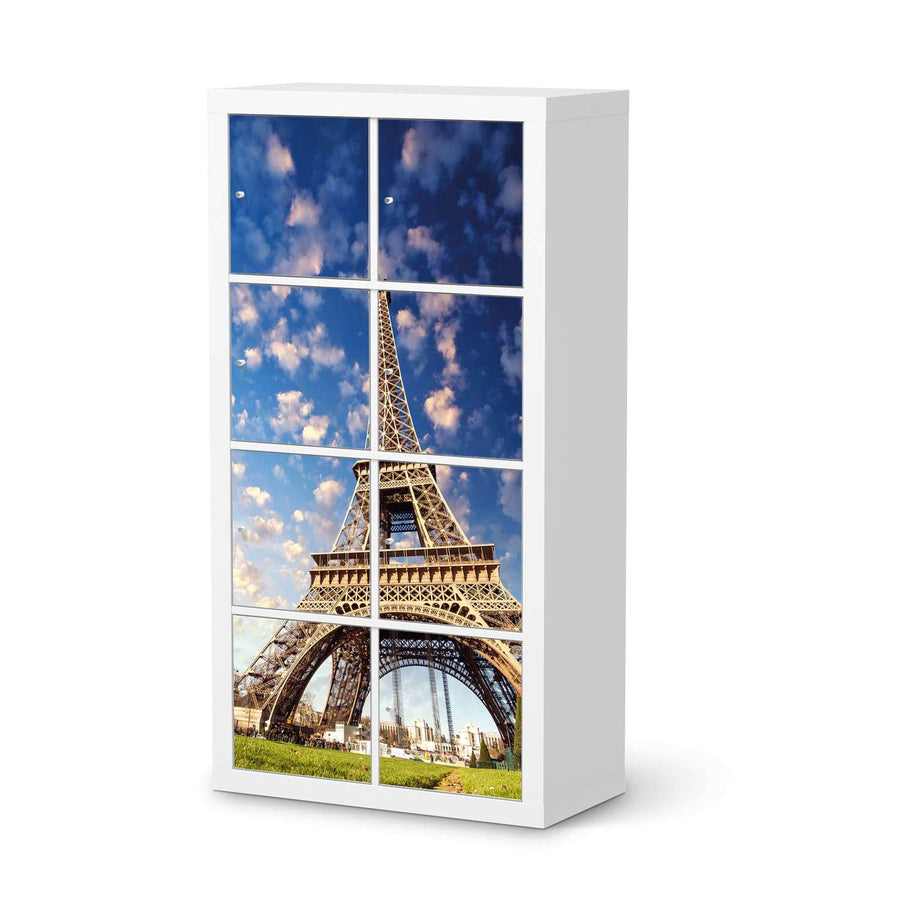 Klebefolie La Tour Eiffel - IKEA Expedit Regal 8 Türen  - weiss