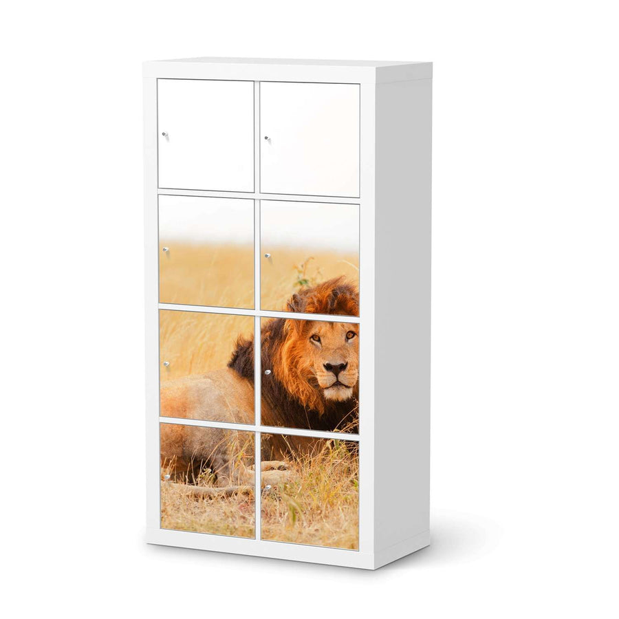 Klebefolie Lion King - IKEA Expedit Regal 8 Türen  - weiss