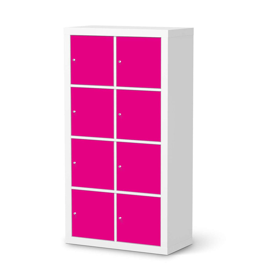 Klebefolie Pink Dark - IKEA Expedit Regal 8 Türen  - weiss