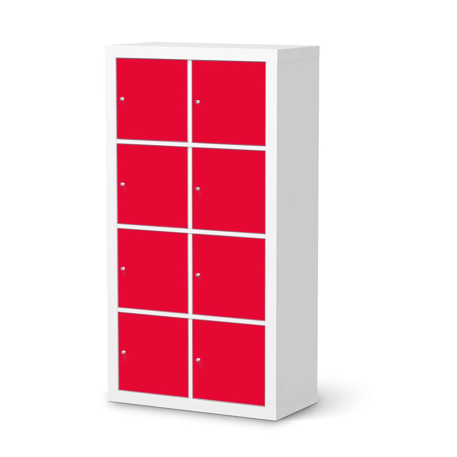Klebefolie Rot Light - IKEA Expedit Regal 8 Türen  - weiss