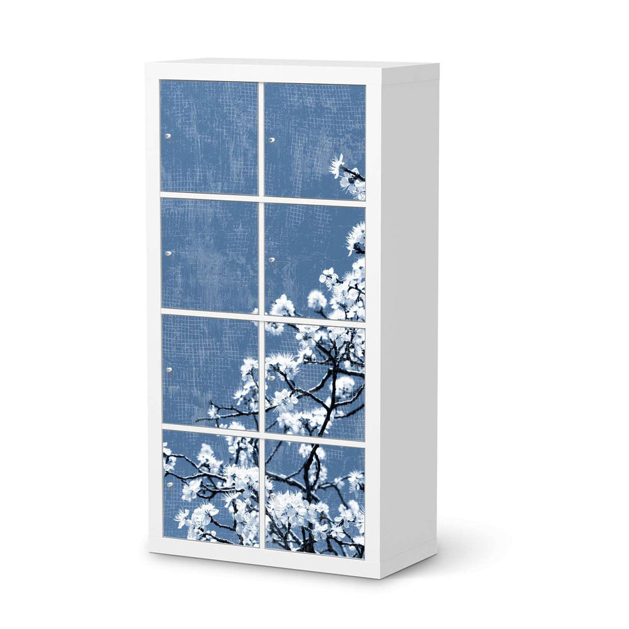 Klebefolie Spring Tree - IKEA Expedit Regal 8 Türen  - weiss