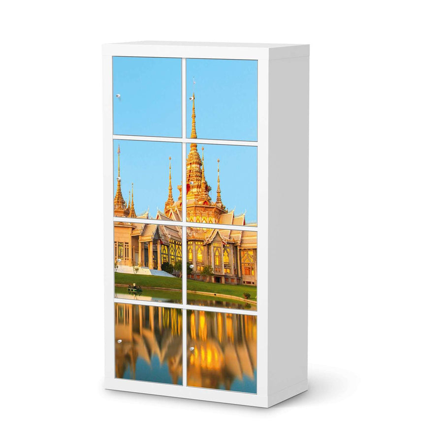 Klebefolie Thailand Temple - IKEA Expedit Regal 8 Türen  - weiss