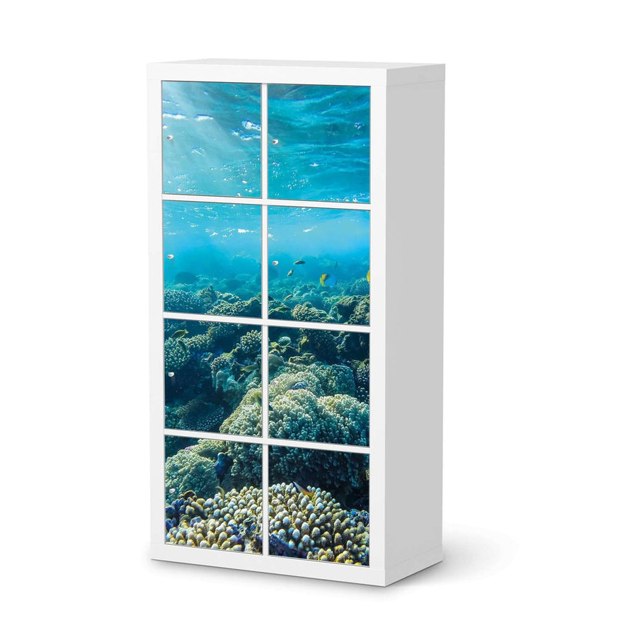 Klebefolie Underwater World - IKEA Expedit Regal 8 Türen  - weiss