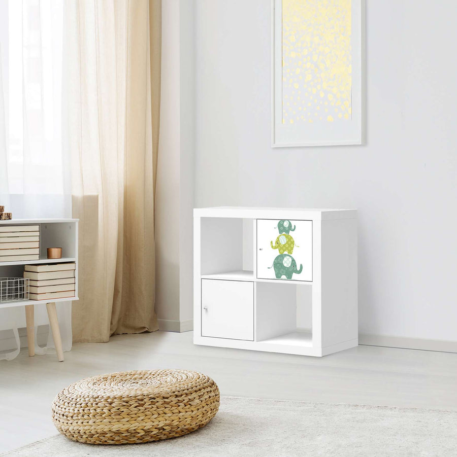 Klebefolie Elephants - IKEA Expedit Regal Tür einzeln - Kinderzimmer