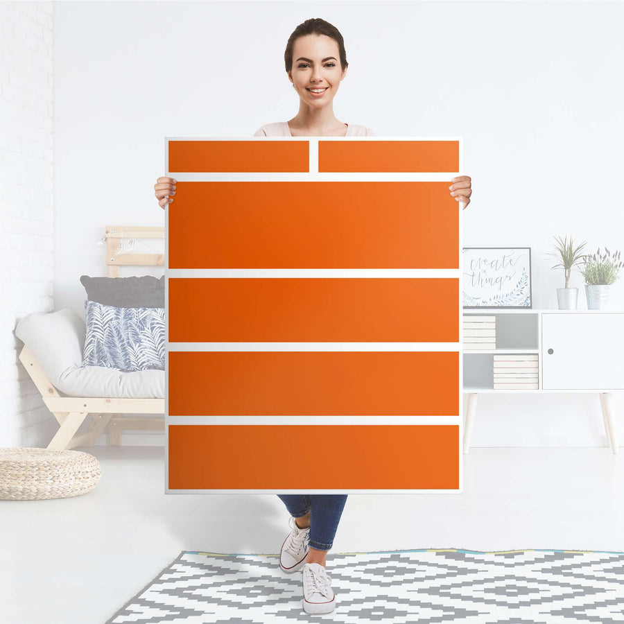 Klebefolie Orange Dark - IKEA Hemnes Kommode 6 Schubladen - Folie