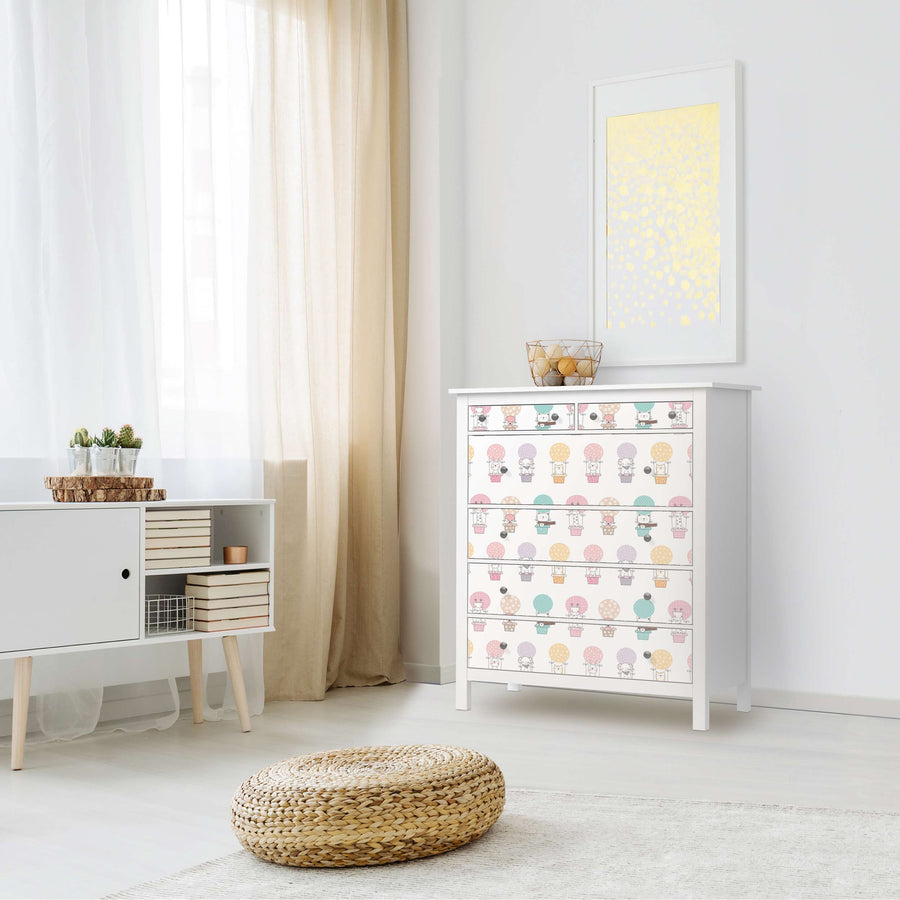 Klebefolie Flying Animals - IKEA Hemnes Kommode 6 Schubladen - Kinderzimmer