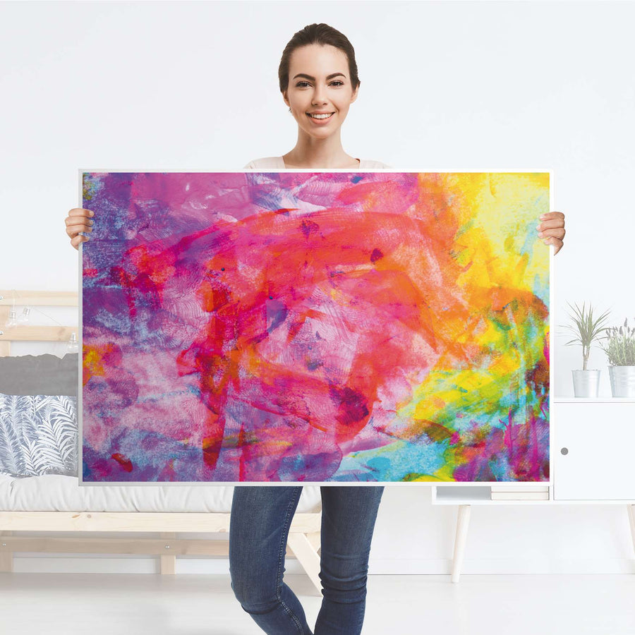 Klebefolie Abstract Watercolor - IKEA Lack Tisch 118x78 cm - Folie