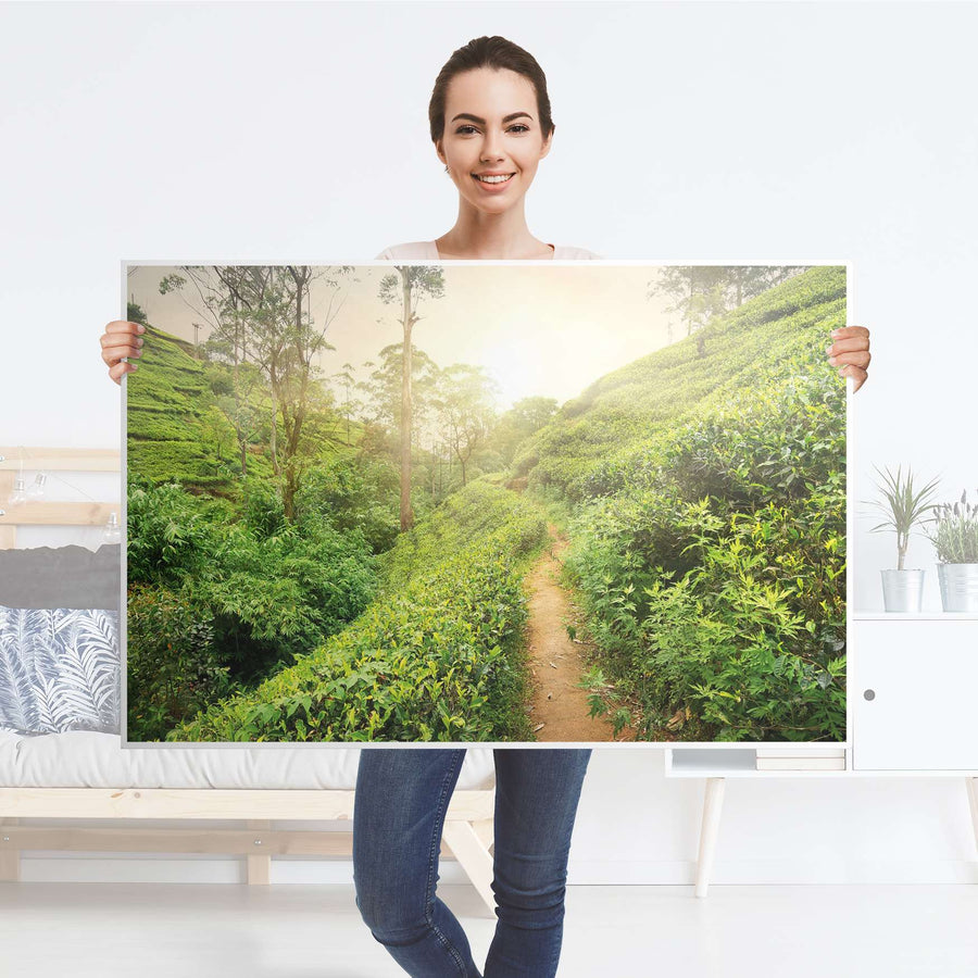 Klebefolie Green Tea Fields - IKEA Lack Tisch 118x78 cm - Folie