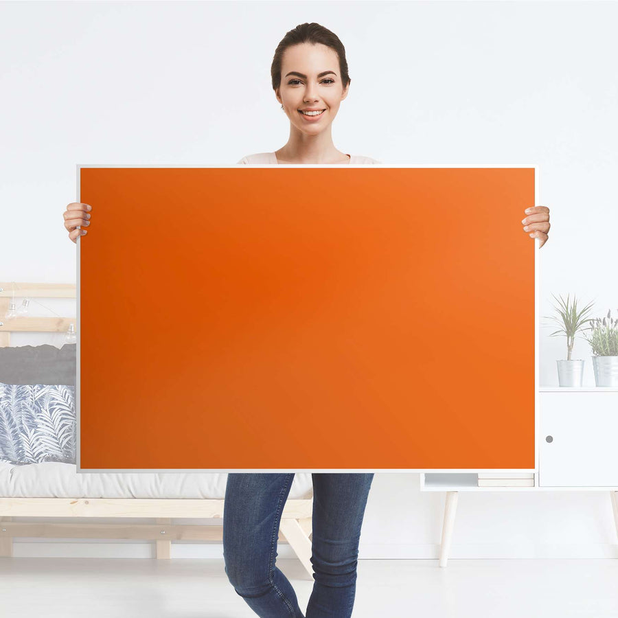 Klebefolie Orange Dark - IKEA Lack Tisch 118x78 cm - Folie