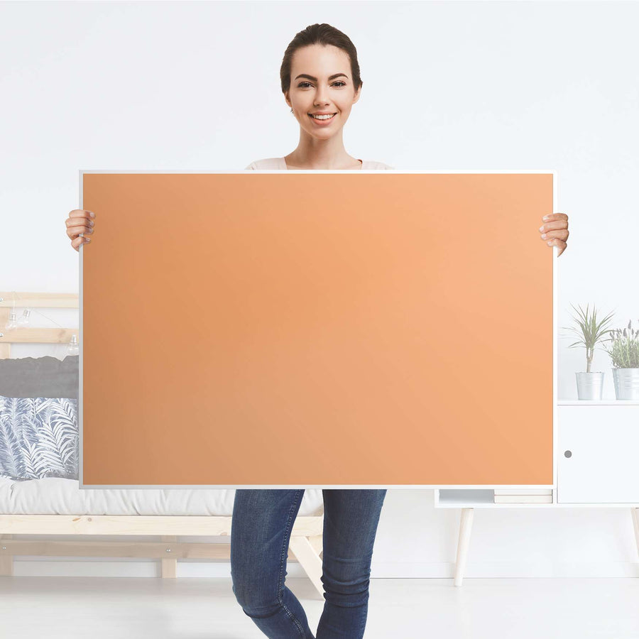 Klebefolie Orange Light - IKEA Lack Tisch 118x78 cm - Folie