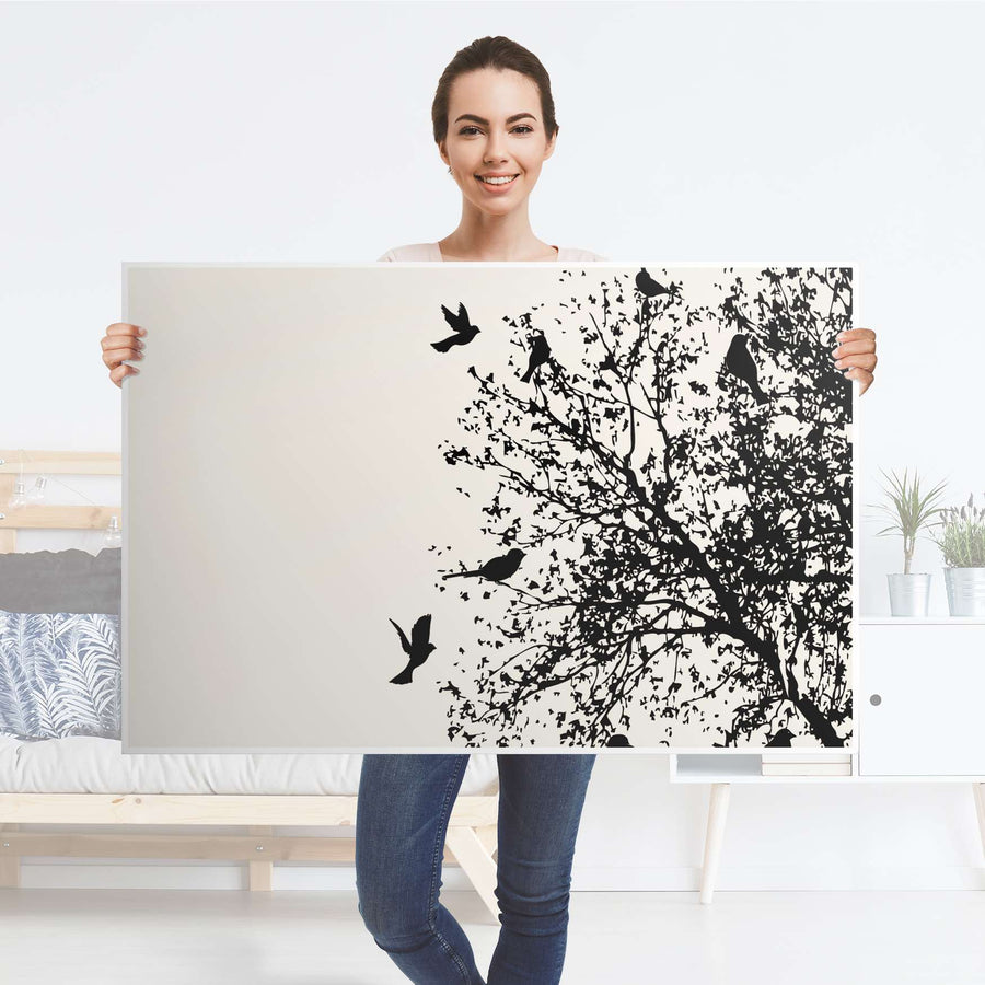 Klebefolie Tree and Birds 2 - IKEA Lack Tisch 118x78 cm - Folie