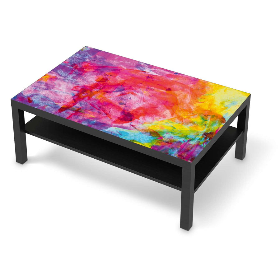 Klebefolie Abstract Watercolor - IKEA Lack Tisch 118x78 cm - schwarz