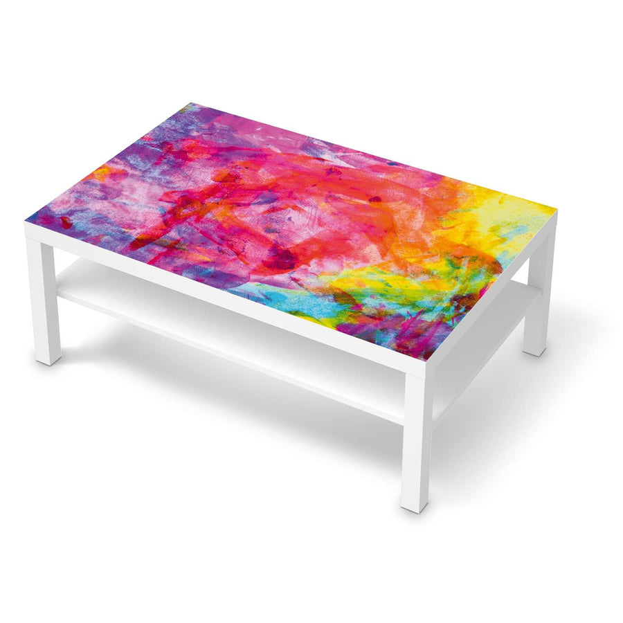 Klebefolie Abstract Watercolor - IKEA Lack Tisch 118x78 cm - weiss