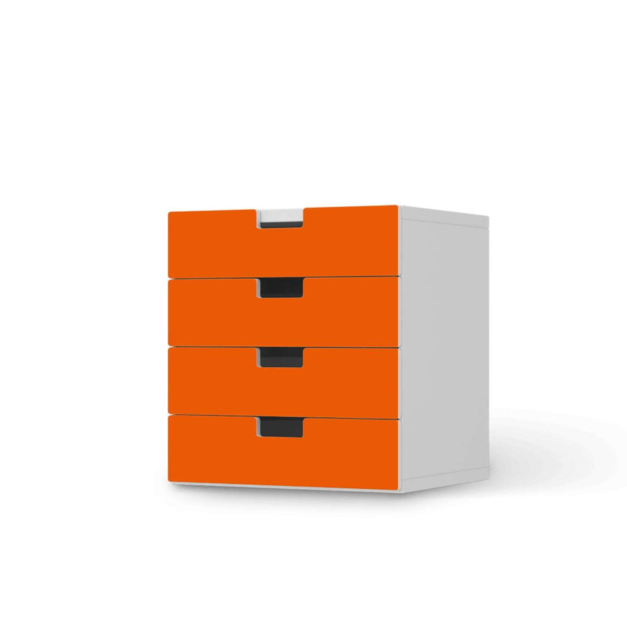 Klebefolie Orange Dark - IKEA Stuva Kommode - 4 Schubladen  - weiss