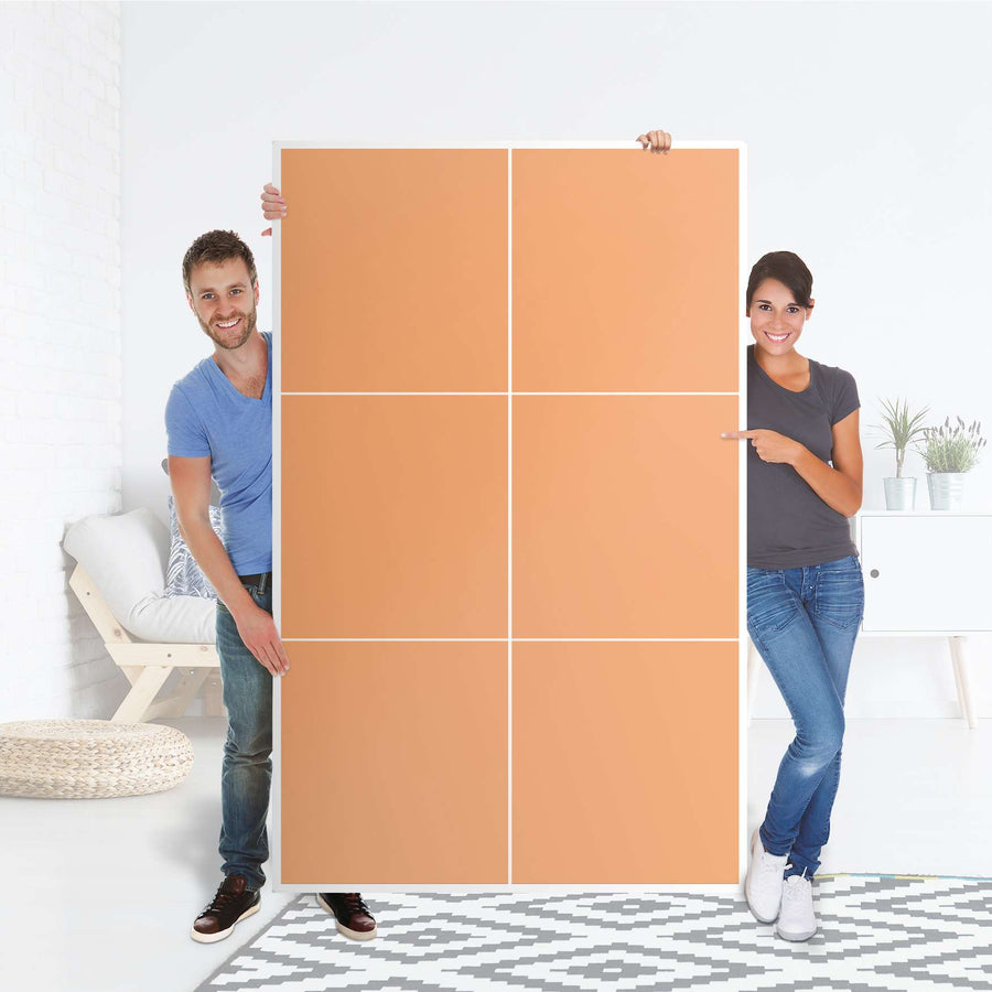 Möbel Klebefolie Orange Light - IKEA Besta Schrank Hoch 6 Türen - Folie
