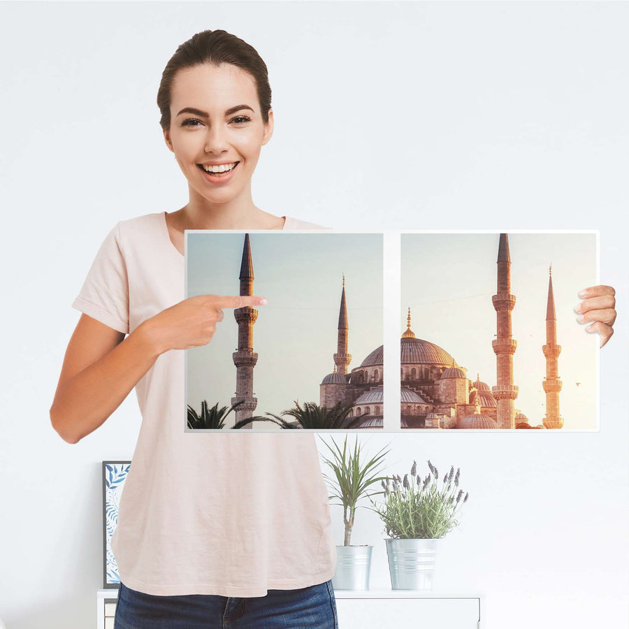 Möbel Klebefolie Blue Mosque - IKEA Expedit Regal 2 Türen Quer - Folie