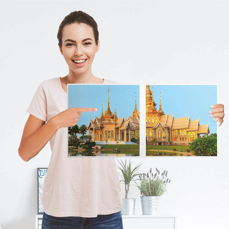 Möbel Klebefolie Thailand Temple - IKEA Expedit Regal 2 Türen Quer - Folie