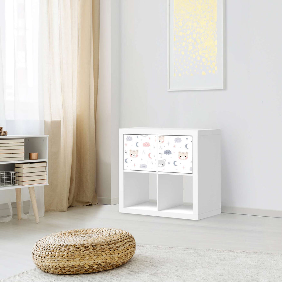 Möbel Klebefolie Sweet Dreams - IKEA Expedit Regal 2 Türen Quer - Kinderzimmer