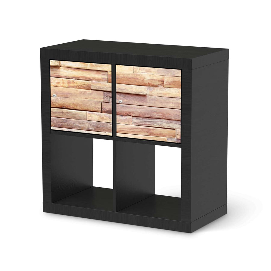 Möbel Klebefolie Artwood - IKEA Expedit Regal 2 Türen Quer - schwarz