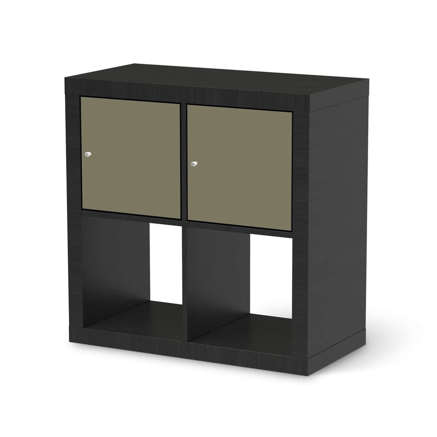 Möbel Klebefolie Braungrau Light - IKEA Expedit Regal 2 Türen Quer - schwarz