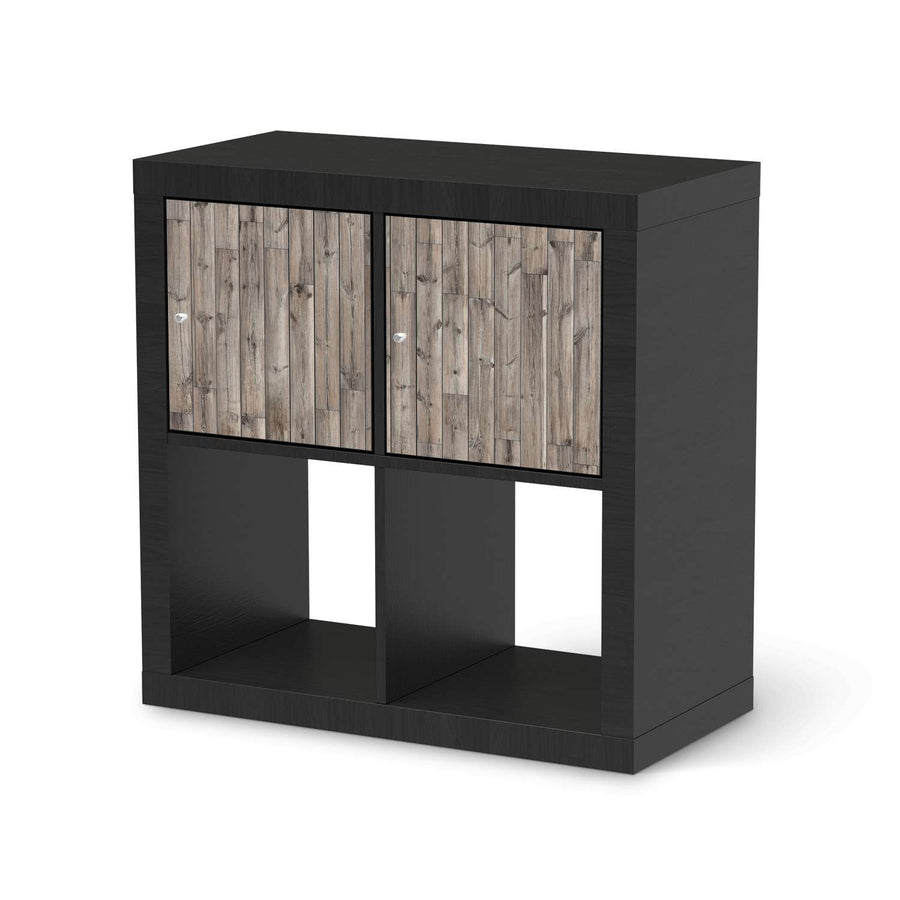 Möbel Klebefolie Dark washed - IKEA Expedit Regal 2 Türen Quer - schwarz