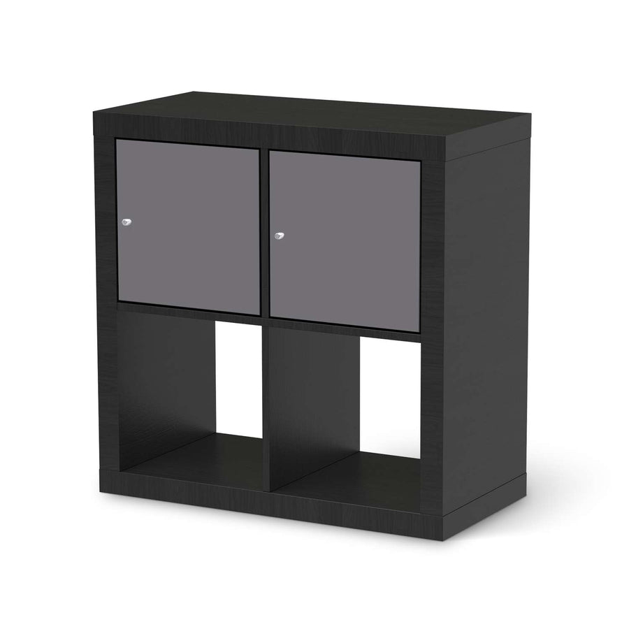 Möbel Klebefolie Grau Light - IKEA Expedit Regal 2 Türen Quer - schwarz
