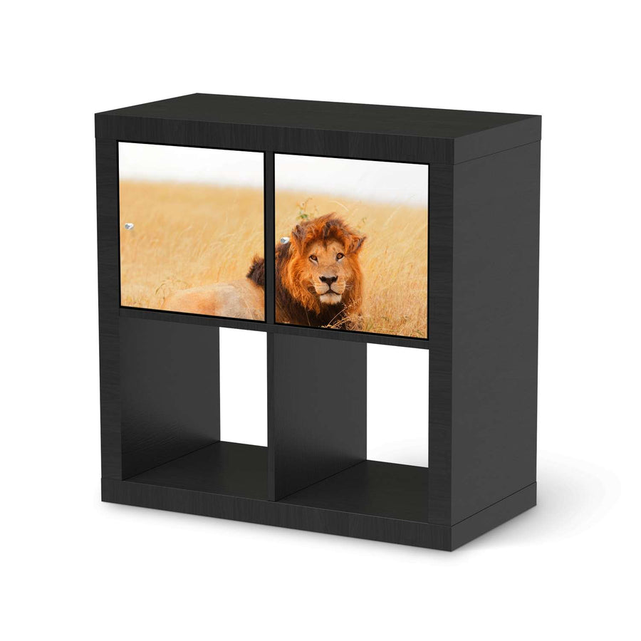 Möbel Klebefolie Lion King - IKEA Expedit Regal 2 Türen Quer - schwarz