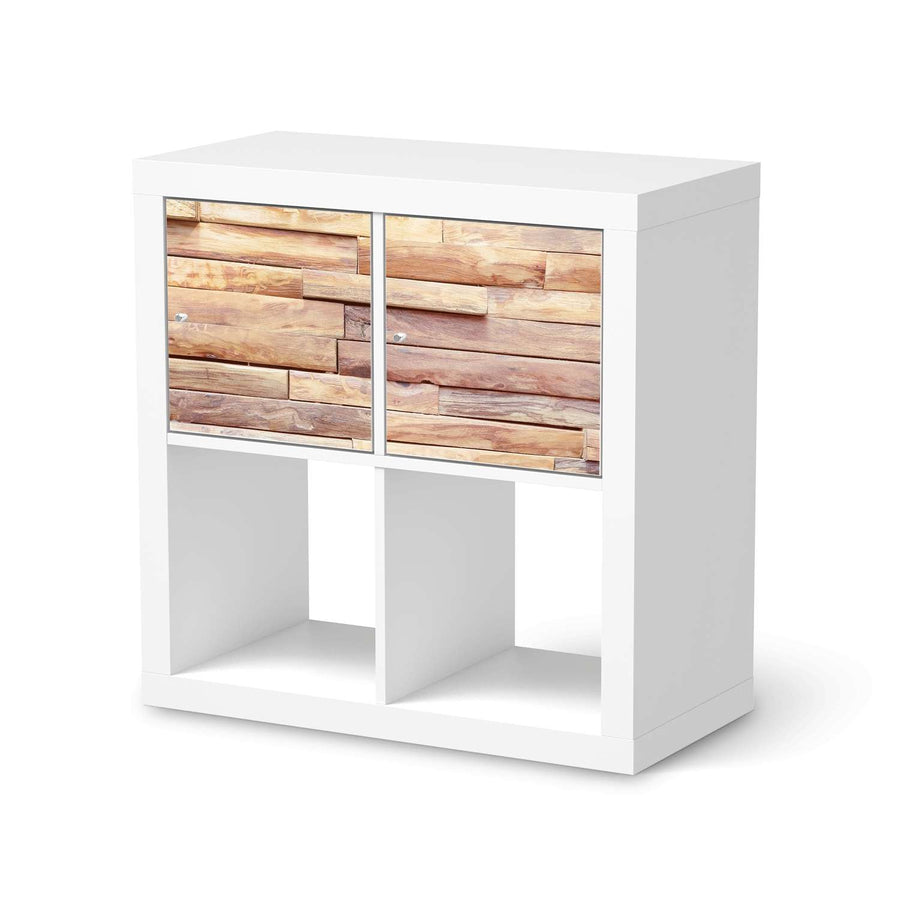Möbel Klebefolie Artwood - IKEA Expedit Regal 2 Türen Quer  - weiss