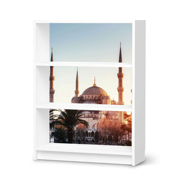 Möbelfolie Blue Mosque - IKEA Billy Regal 3 Fächer - weiss