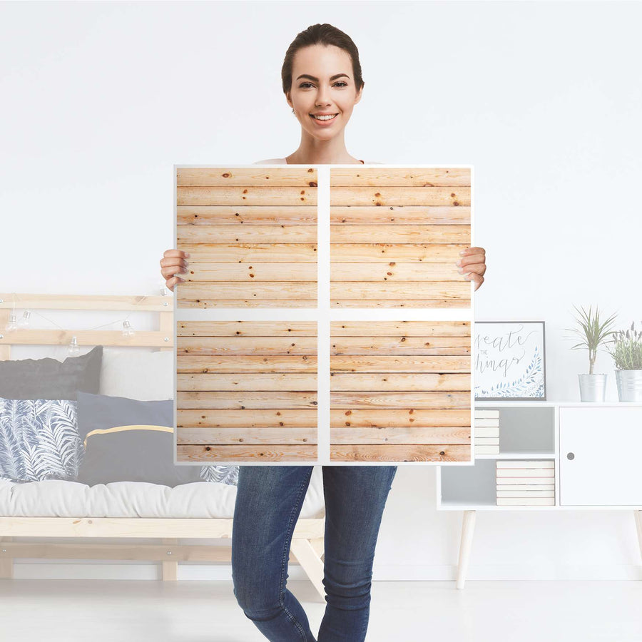 Möbelfolie Bright Planks - IKEA Expedit Regal 4 Türen - Folie