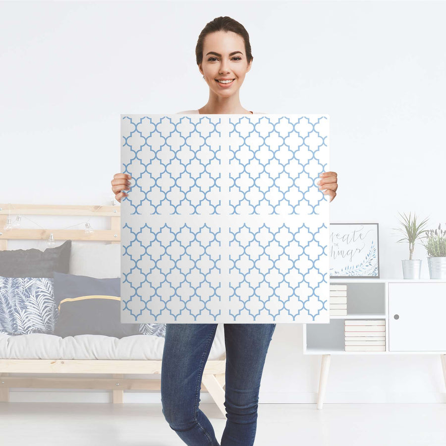 Möbelfolie Retro Pattern - Blau - IKEA Expedit Regal 4 Türen - Folie