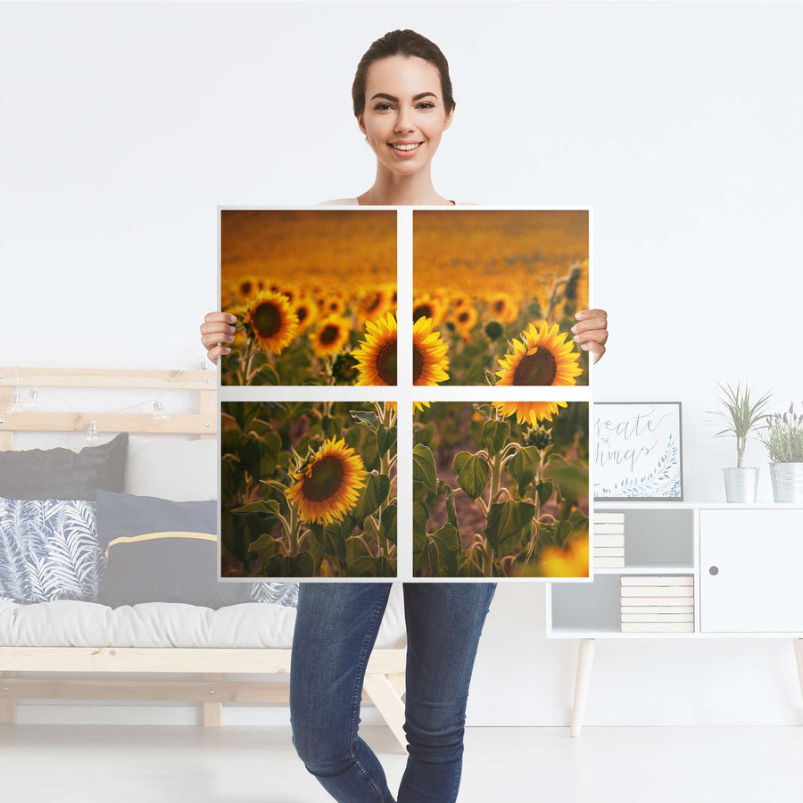 Möbelfolie Sunflowers - IKEA Expedit Regal 4 Türen - Folie