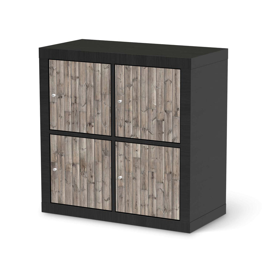 Möbelfolie Dark washed - IKEA Expedit Regal 4 Türen - schwarz