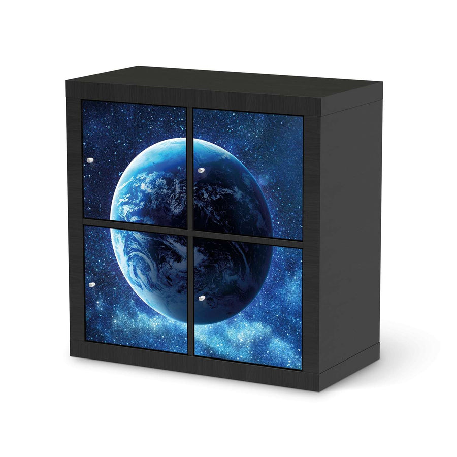 Möbelfolie Planet Blue - IKEA Expedit Regal 4 Türen - schwarz