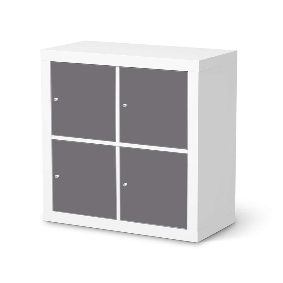 Möbelfolie Grau Light - IKEA Expedit Regal 4 Türen  - weiss