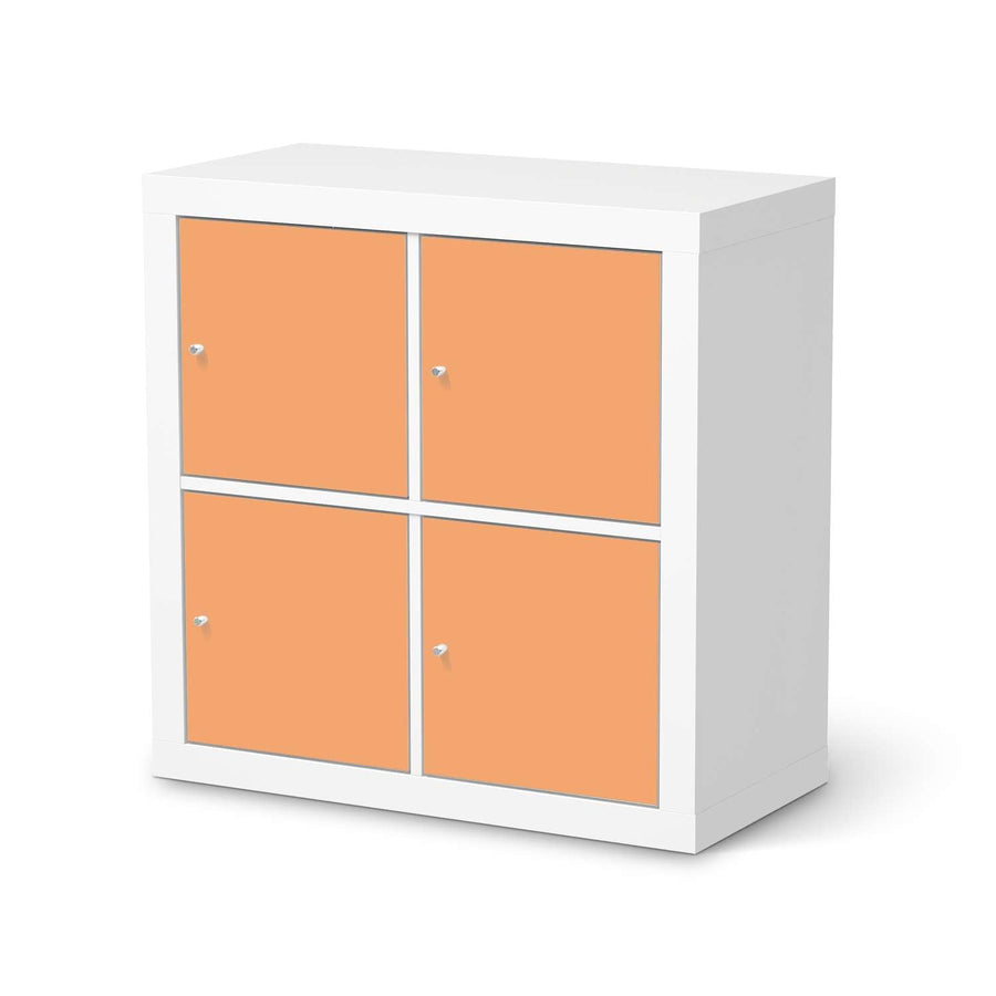 Möbelfolie Orange Light - IKEA Expedit Regal 4 Türen  - weiss