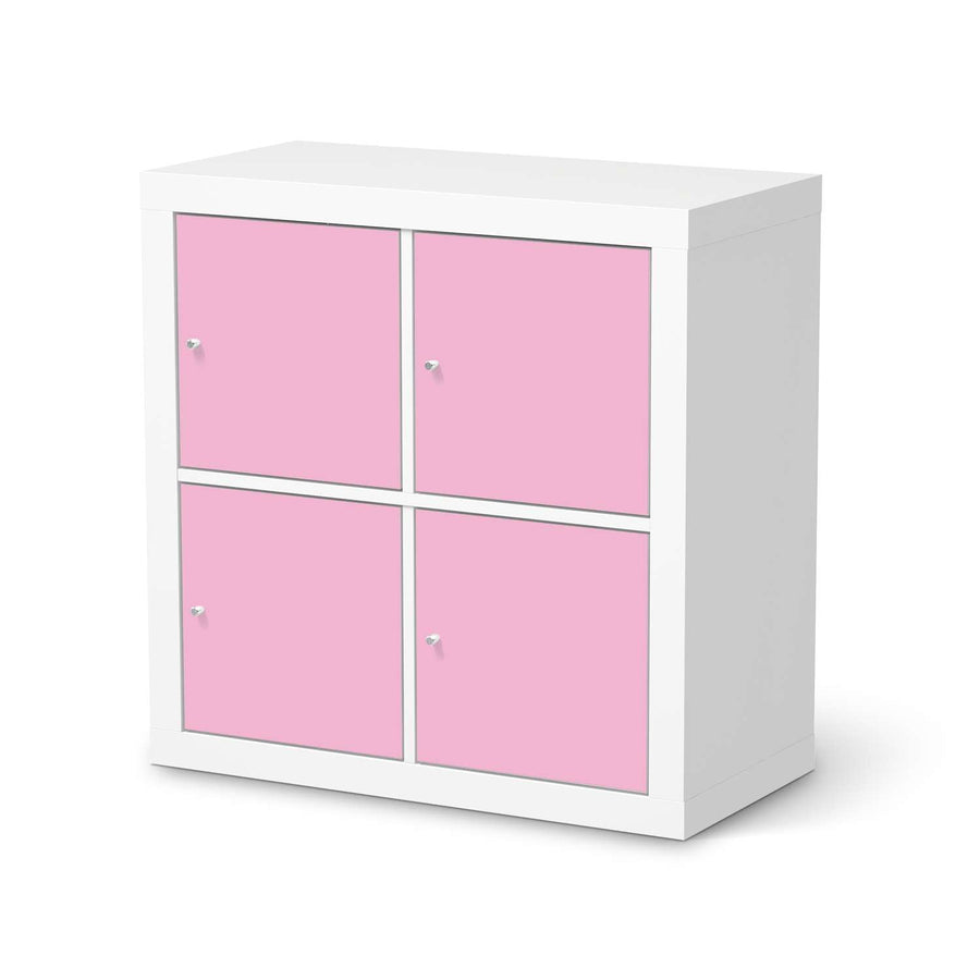 Möbelfolie Pink Light - IKEA Expedit Regal 4 Türen  - weiss