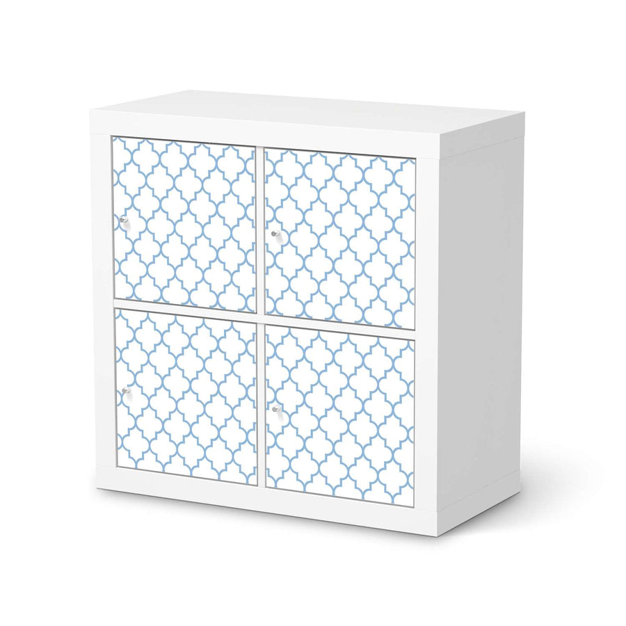 Möbelfolie Retro Pattern - Blau - IKEA Expedit Regal 4 Türen  - weiss