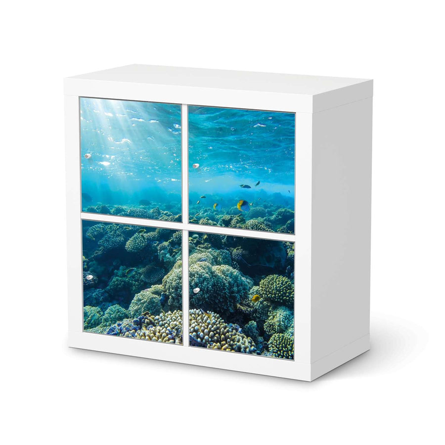 Möbelfolie Underwater World - IKEA Expedit Regal 4 Türen  - weiss