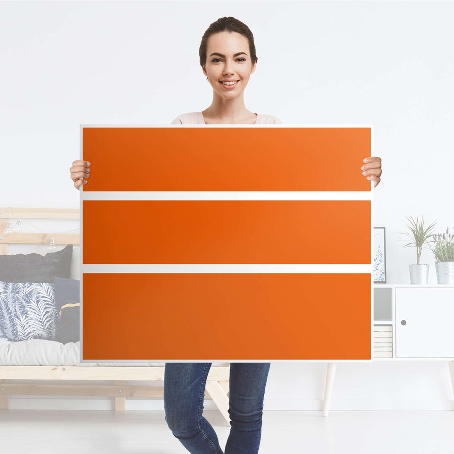 Möbelfolie Orange Dark - IKEA Hemnes Kommode 3 Schubladen - Folie