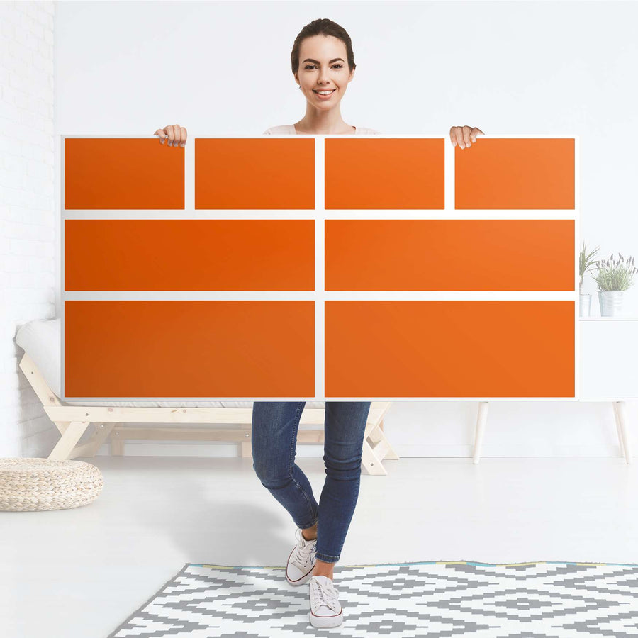 Möbelfolie Orange Dark - IKEA Hemnes Kommode 8 Schubladen - Folie