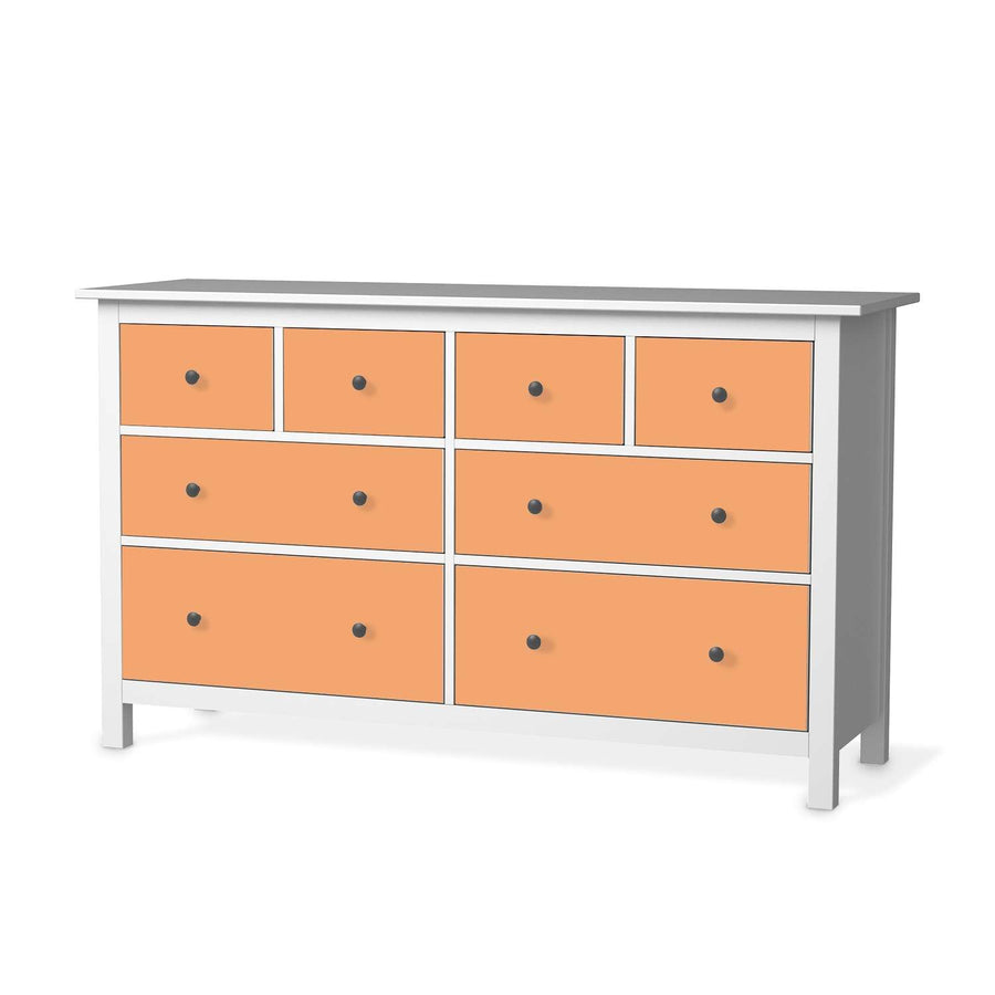 Möbelfolie Orange Light - IKEA Hemnes Kommode 8 Schubladen  - weiss