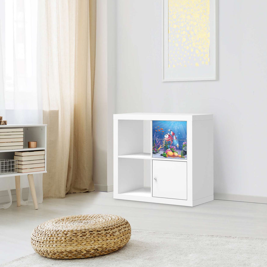 Möbelfolie IKEA Bubbles - IKEA Expedit Regal Schubladen - Kinderzimmer