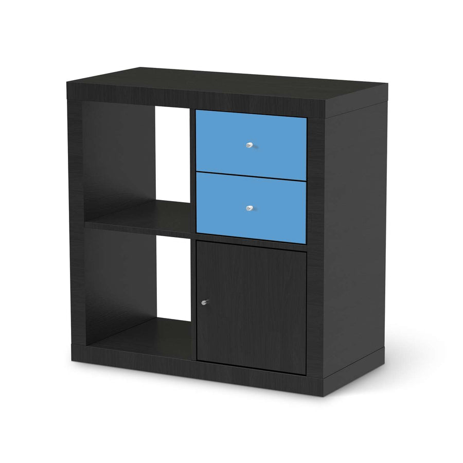 Möbelfolie IKEA Blau Light - IKEA Expedit Regal Schubladen - schwarz