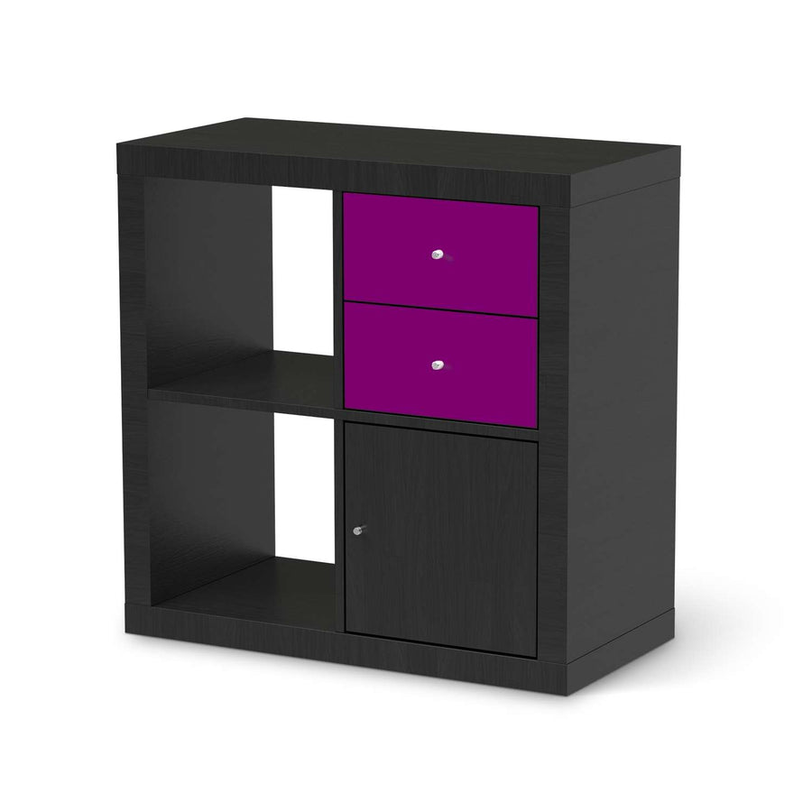 Möbelfolie IKEA Flieder Dark - IKEA Expedit Regal Schubladen - schwarz