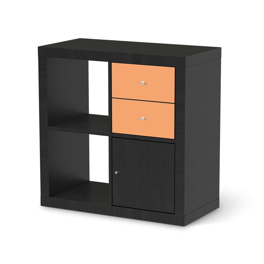 Möbelfolie IKEA Orange Light - IKEA Expedit Regal Schubladen - schwarz