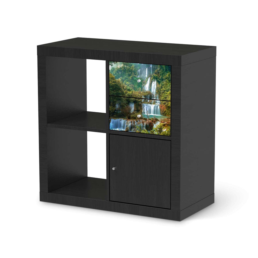 Möbelfolie IKEA Rainforest - IKEA Expedit Regal Schubladen - schwarz