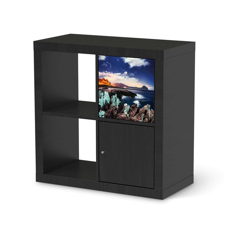 Möbelfolie IKEA Seaside - IKEA Expedit Regal Schubladen - schwarz