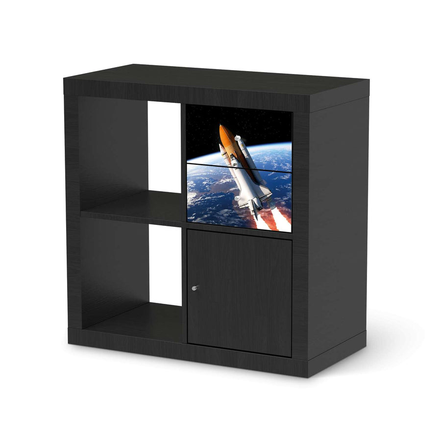 Möbelfolie IKEA Space Traveller - IKEA Expedit Regal Schubladen - schwarz